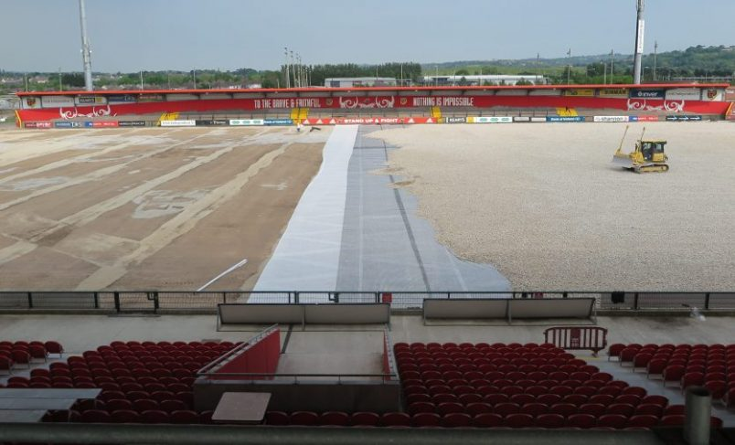 Artificial Pitch Installation Progressing Well