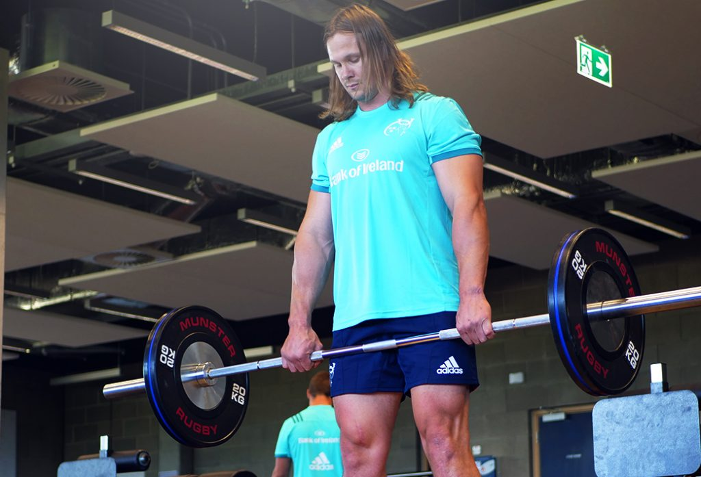 Arno Botha during pre-season training at the High Performance Centre.