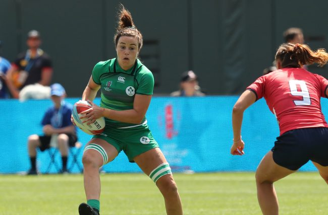 Rugby World Cup Sevens San Francisco 2018 Day 2 AT&T park San Francisco 21/7/2018 Ireland vs Russia Ireland's Louise Galvin Mandatory Credit ©INPHO/Billy Stickland