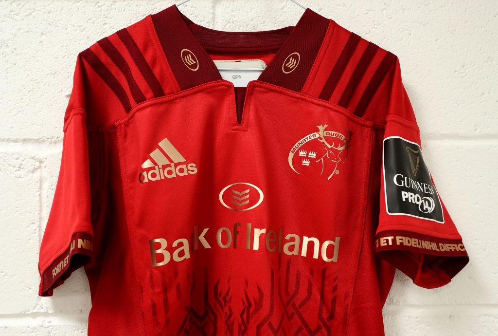 Munster Rugby's Guinness PRO14 home jersey will be unchanged with a new European and Alternate jersey to be launched.