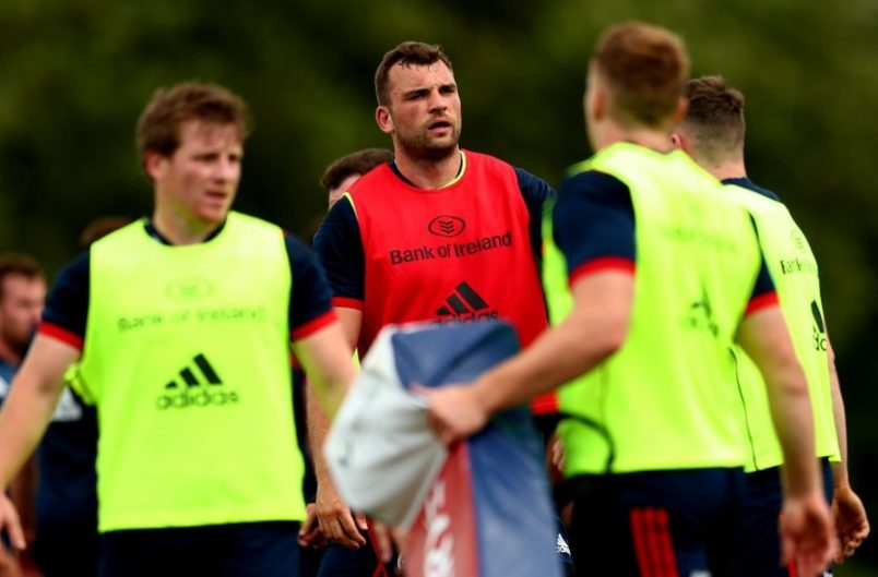 New signing Tadhg Beirne at training last week.