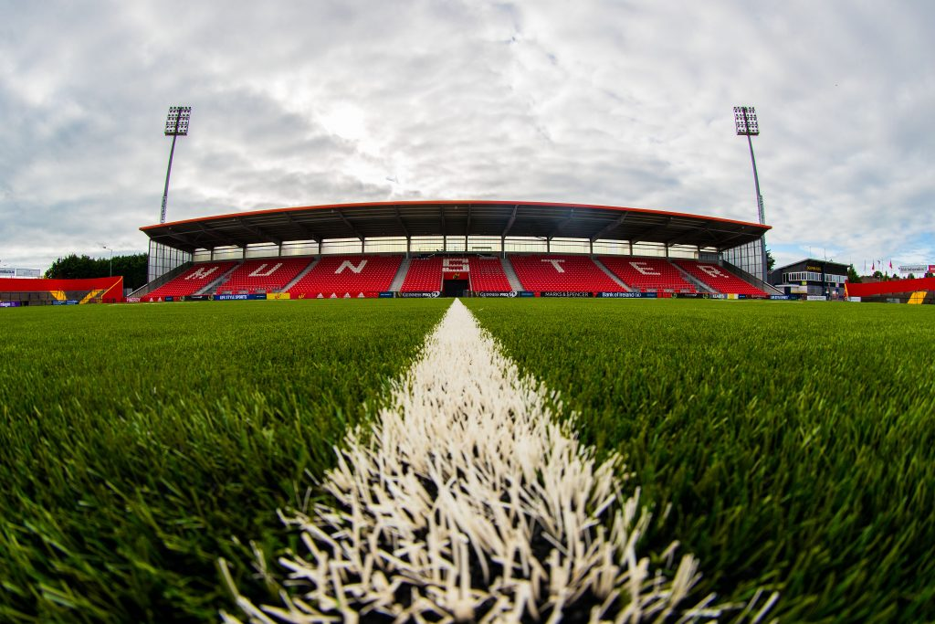 The new pitch at Irish Independent Park is currently bedding in.