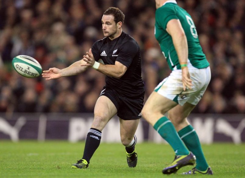 Alby Mathewson in action for the All Blacks against Ireland.