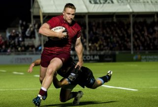 Rory Scannell in action away to Glasgow last season.