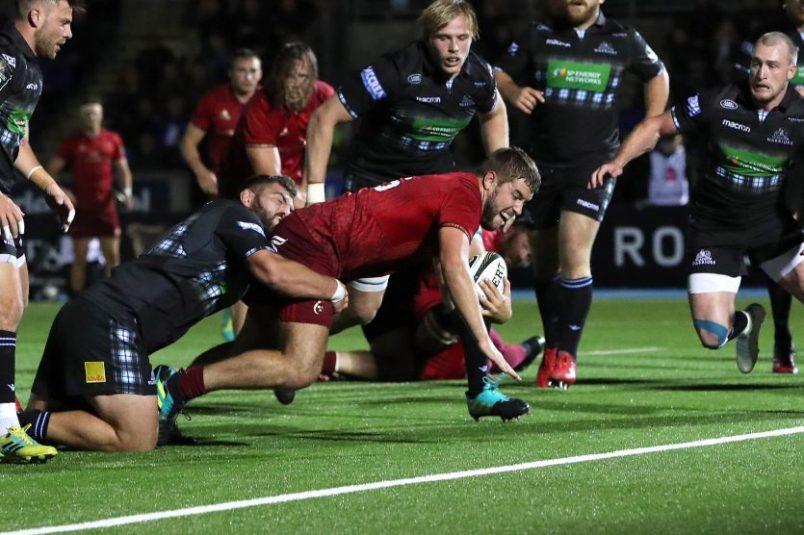 Rhys Marshall scores Munster