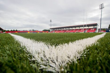 Munster play their first competitive game on the new artificial surface at Irish Independent Park on Friday night.