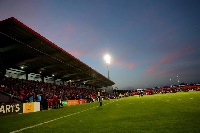 Munster host Ospreys under the lights at Irish Independent Park on Friday.