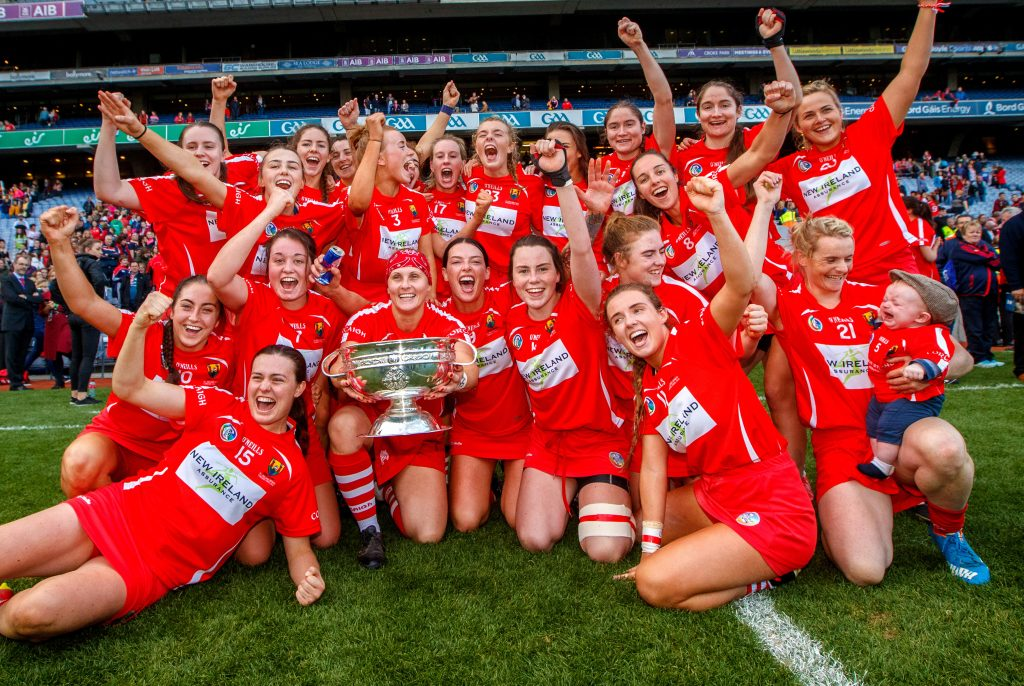 The Cork camogie team will be presented to the crowd at half-time of Friday night's clash.