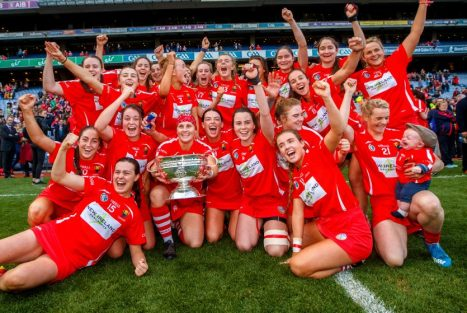 The Cork camogie team will be presented to the crowd at half-time of Friday night