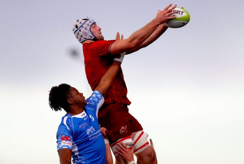 Academy man Sean O'Connor in lineout action for Munster A last weekend.