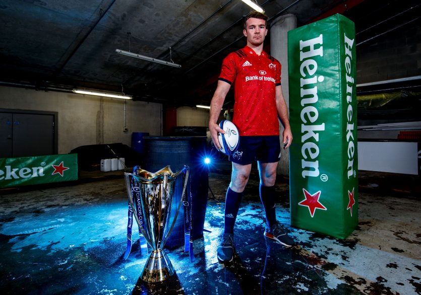 Munster captain Peter O'Mahony at the Champions Cup launch.