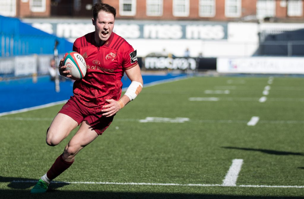 Sean French scores Munster As second try.