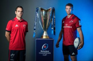 Munster Head Coach Johann van Graan and captain Peter O