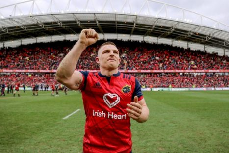 Andrew Conway reaches 100 caps for Munster today