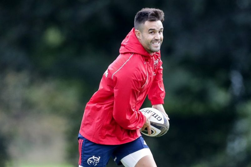 Conor Murray in action at Munster training