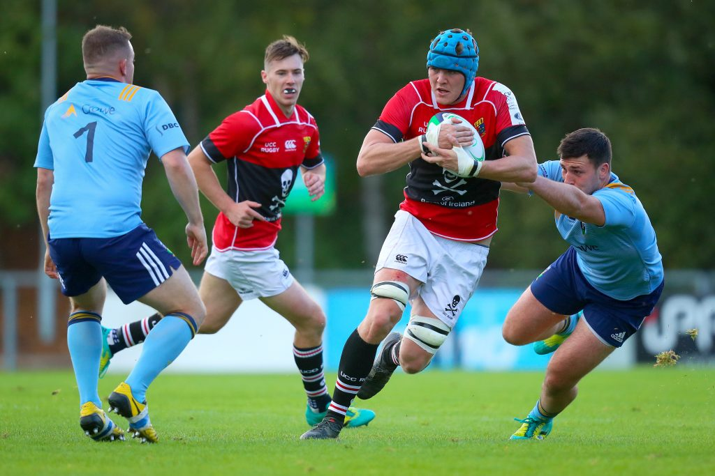 UCC's Darragh Moloney in action against UCD last weekend