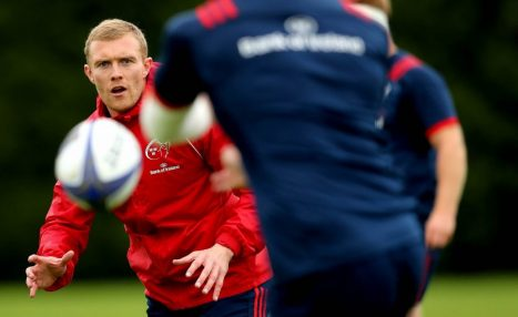 Keith Earls will undergo a scan on his hamstring.