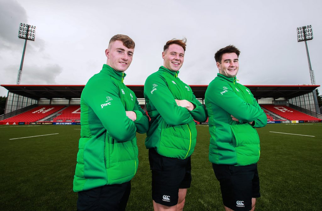 The next generation - Jonathan Wren, Sean French and John Hodnett at Irish Independent Park.
