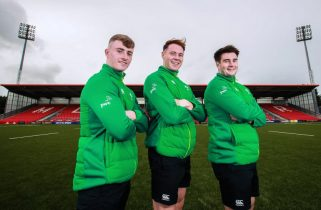 The next generation - Jonathan Wren, Sean French and John Hodnett at Irish Independent Park.
