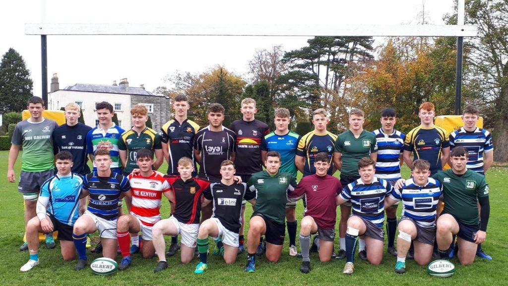 Ireland U18 Clubs wear their club colours in Treviso.