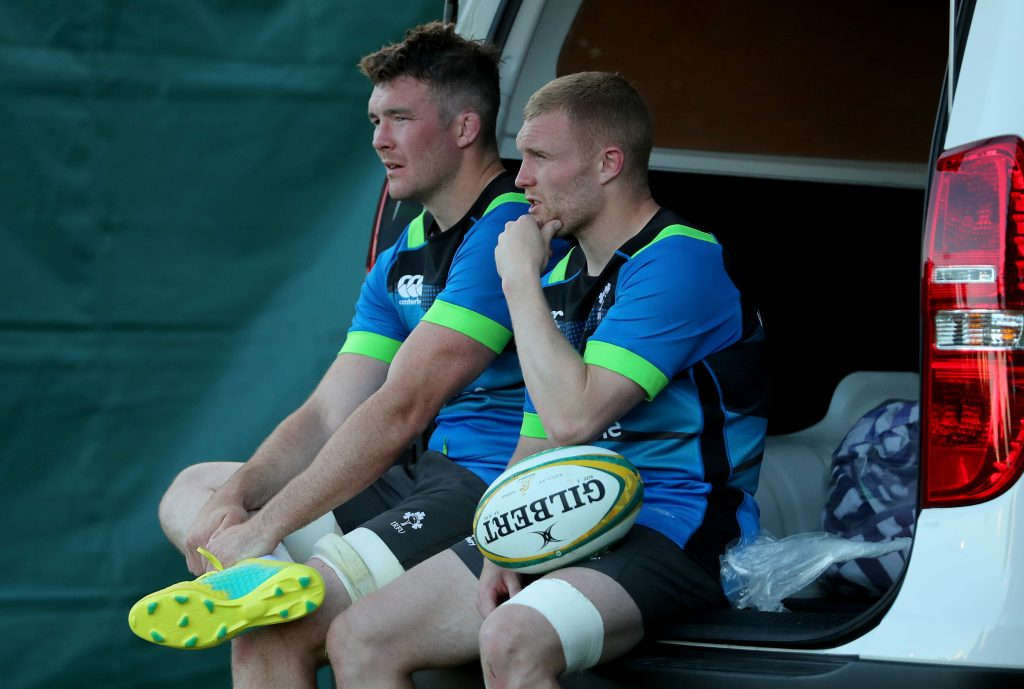 Peter O'Mahony and Keith Earls.