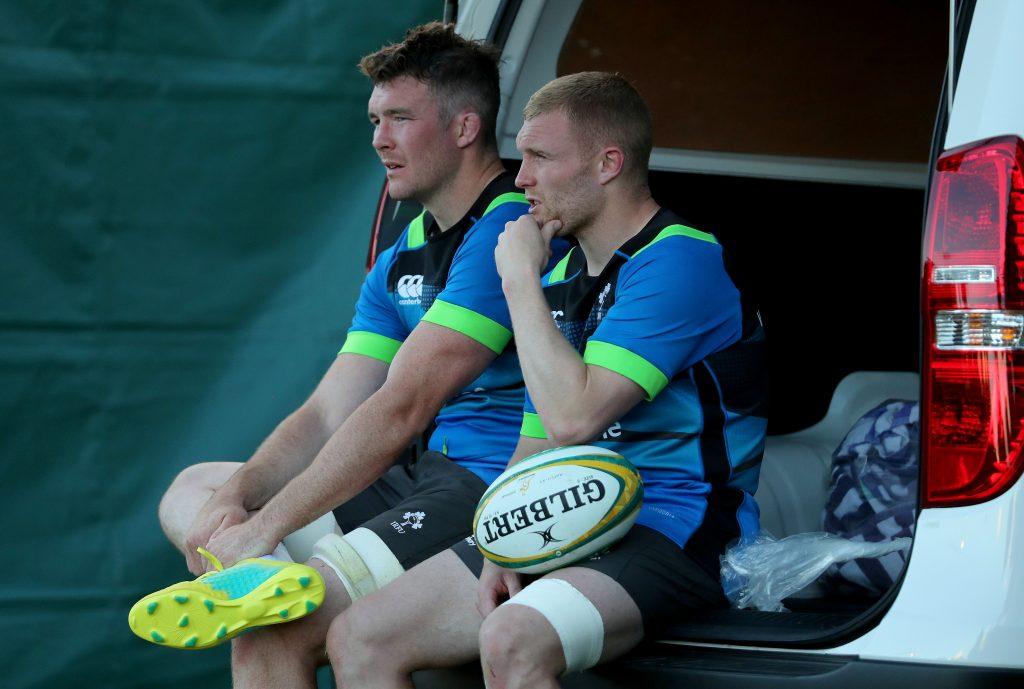 Peter O'Mahony and Keith Earls.