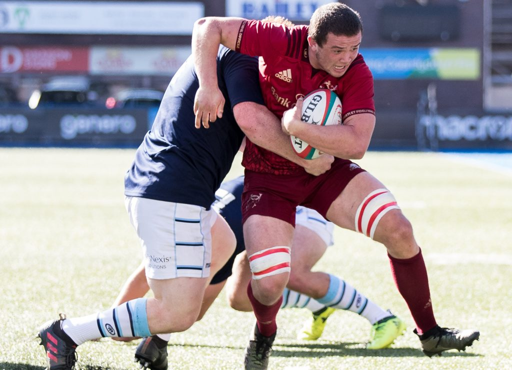 Jack Daly in action for Munster A against Cardiff Blues A.