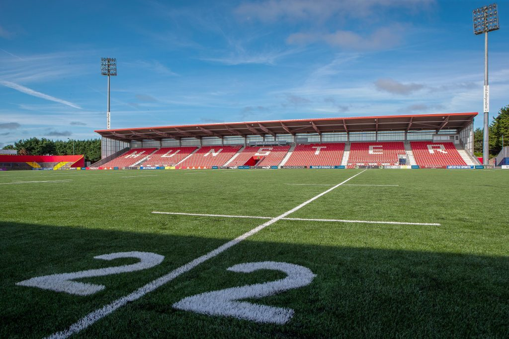 The West Stand at Irish Independent Park.