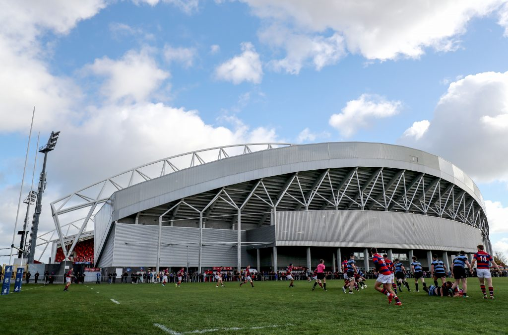 A view of Thomond Park and the back pitch.