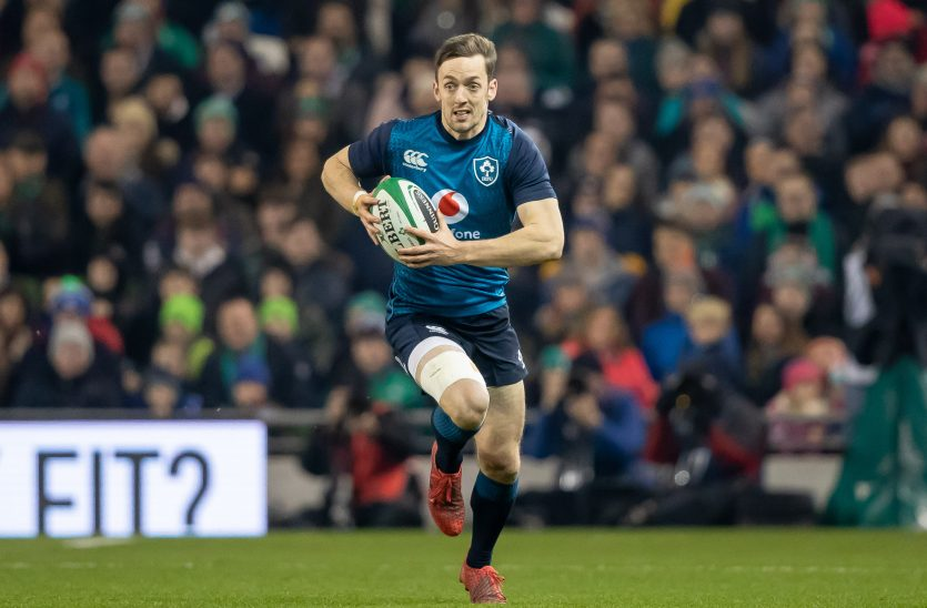 Darren Sweetnam in action for Ireland on Saturday night.