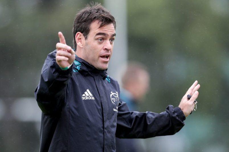 Munster Head Coach Johann van Graan directs a training session.