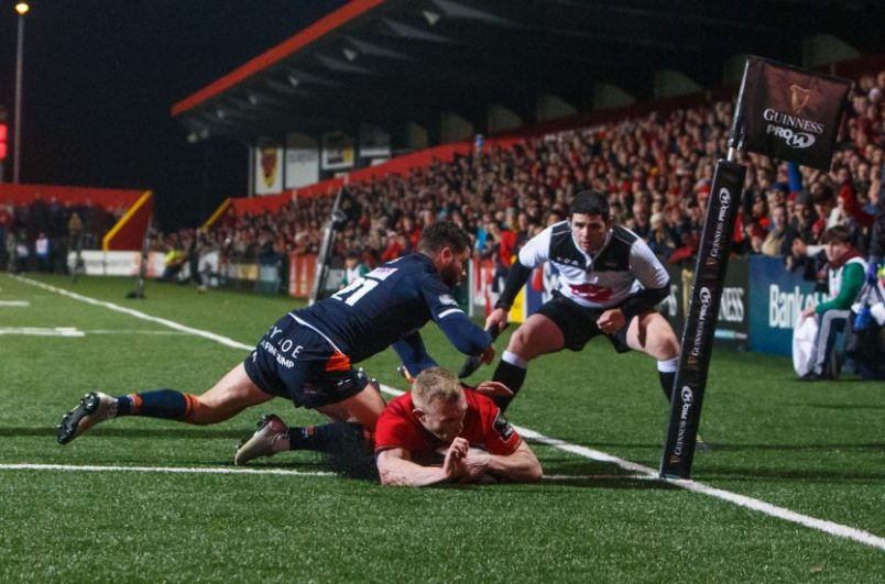 Keith Earls scored a hat-trick in the win.