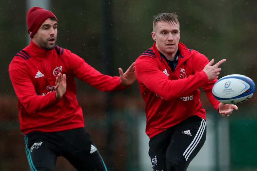 Conor Murray and Rory Scannell at training this week.