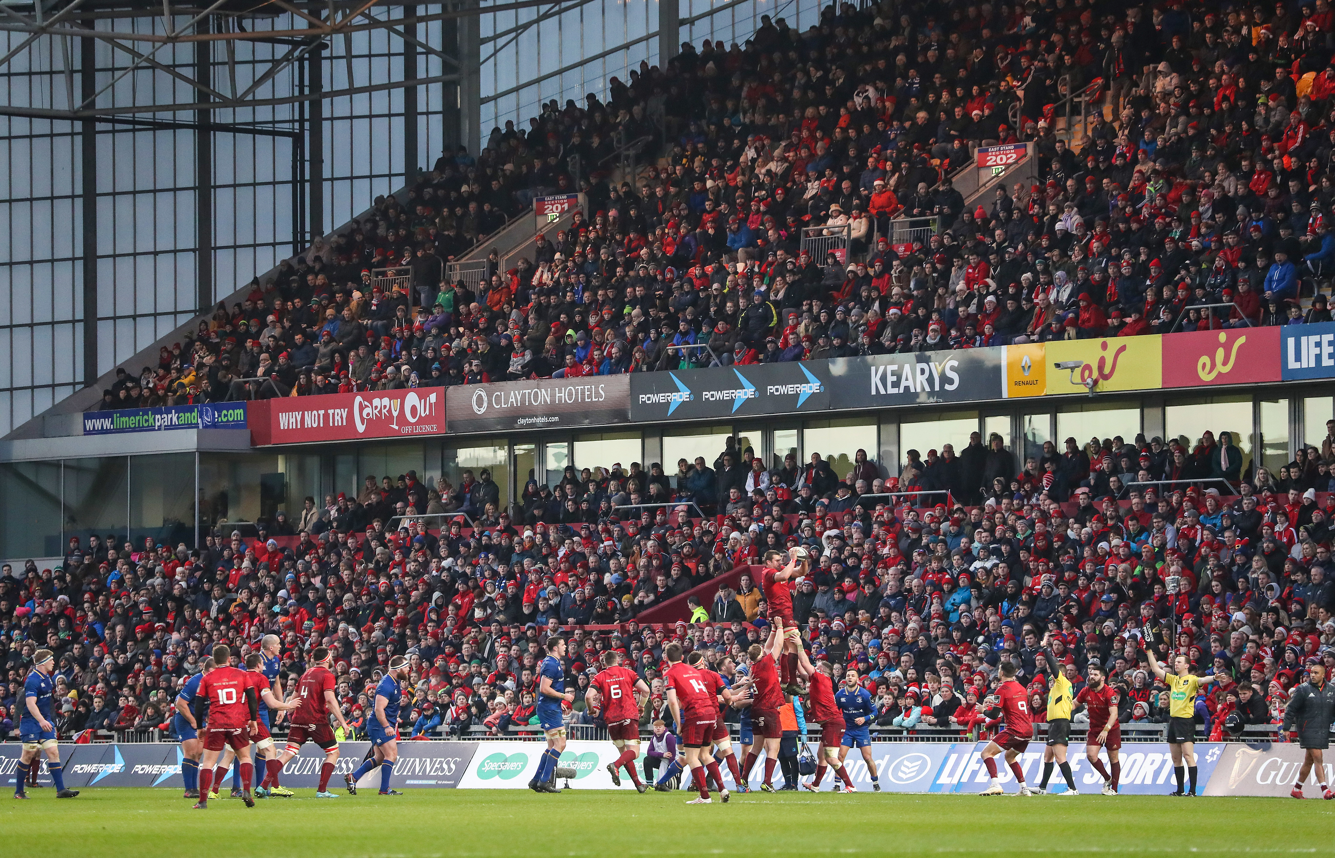 A view of a sold out Thomond Park during Munster v Leinster
