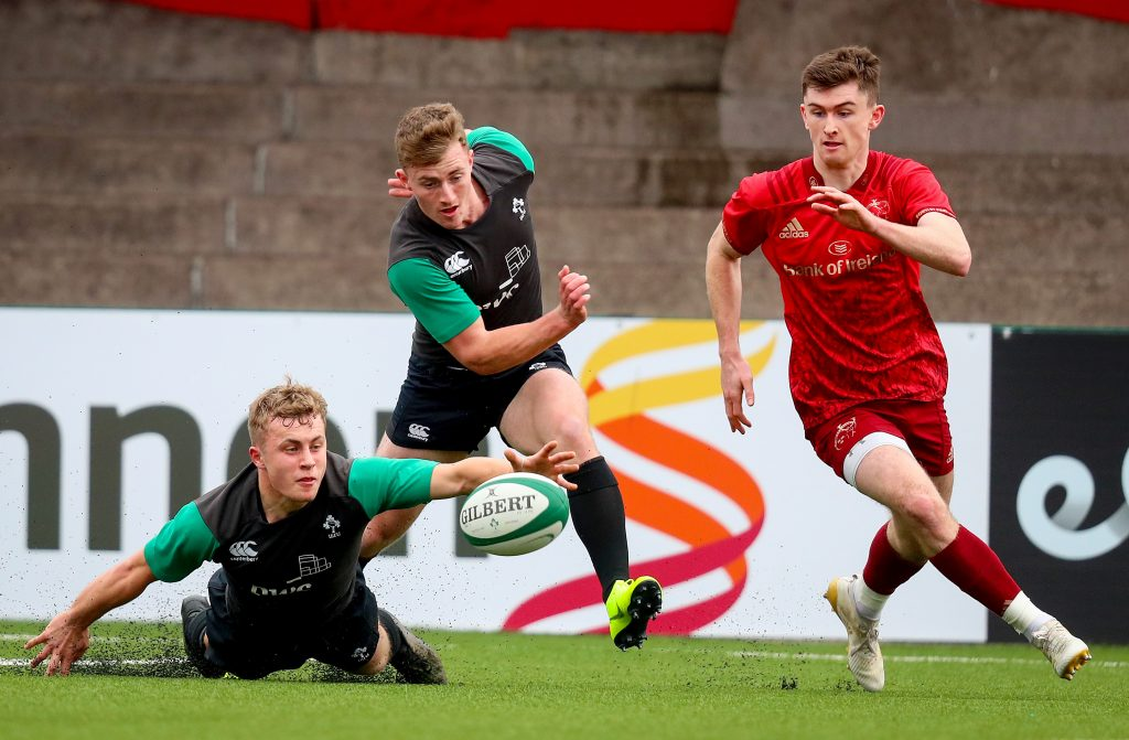 Munster Academy players Craig Casey, Jonathan Wren and James McCarthy.