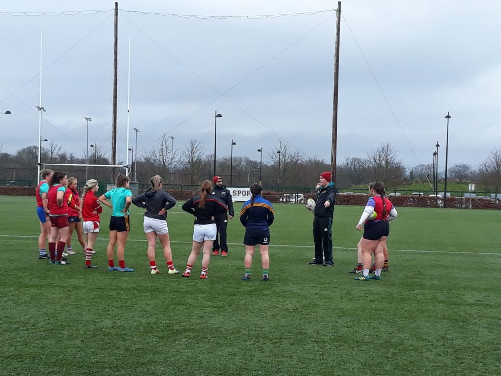 Munster U18 Girls and Talent Identified players train at UL.