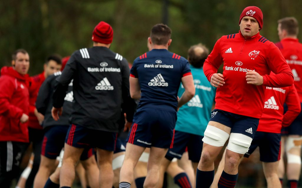CJ Stander during the warm-up.