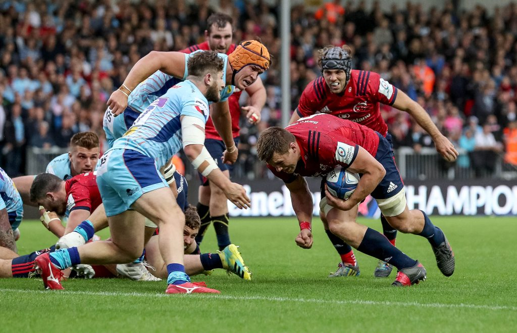 CJ Stander on the charge against Exeter Chiefs in October's 10-10 draw at Sandy Park.