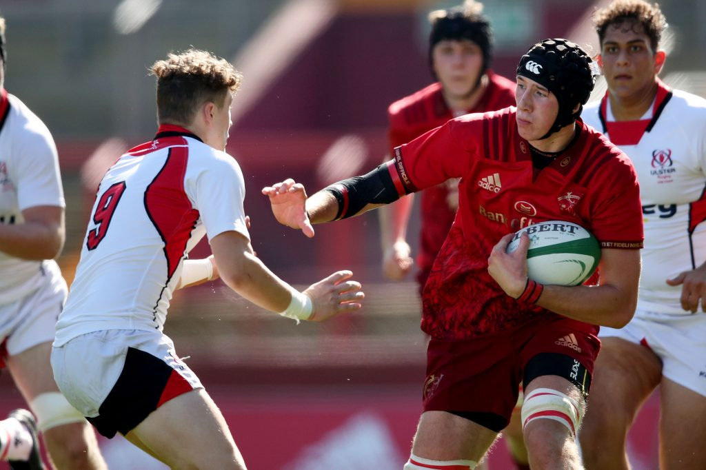 Thomas Ahern in action for the Munster U18 Clubs team.