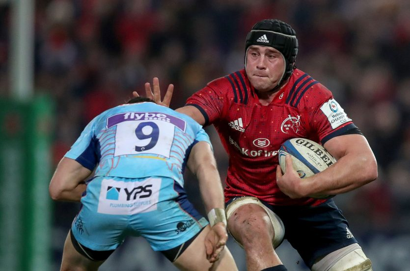 CJ Stander in action against Exeter.