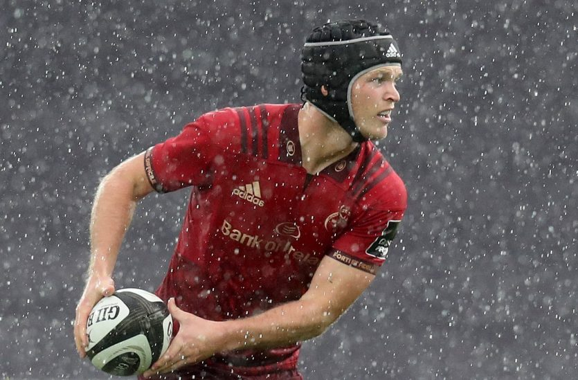 Tyler Bleyendaal captains Munster against Dragons at Rodney Parade on Saturday.