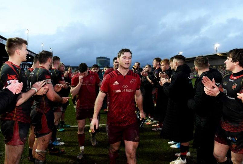 Tyler Bleyendaal after a win in difficult conditions in Rodney Parade
