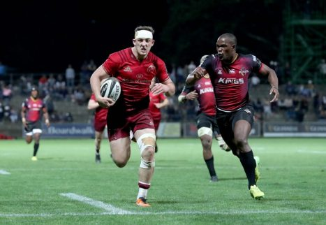 Dan Goggin runs in a try against Southern Kings in George.