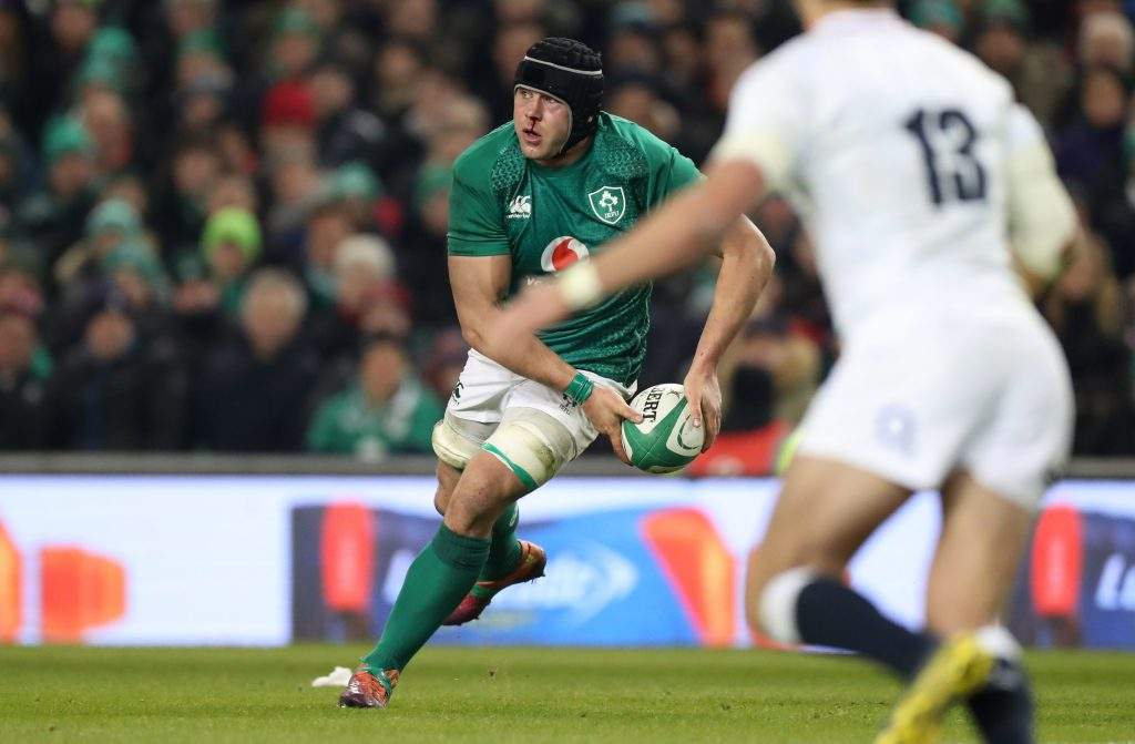 CJ Stander in action for Ireland against England