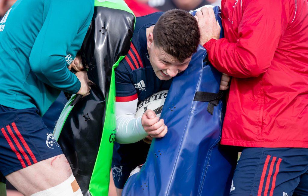 Fineen Wycherley at Munster training on Monday.