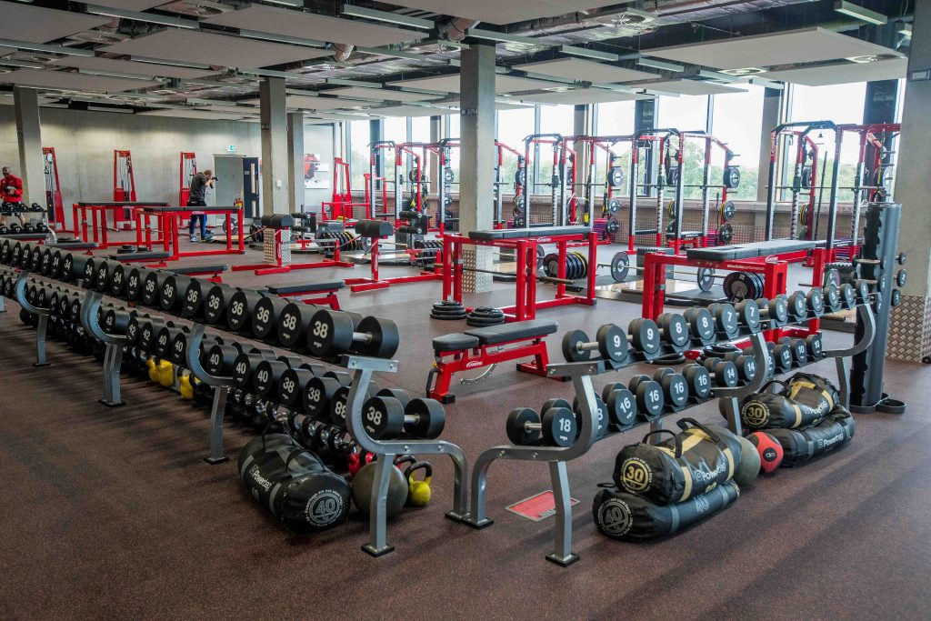The gym at the Munster Rugby High Performance Centre.
