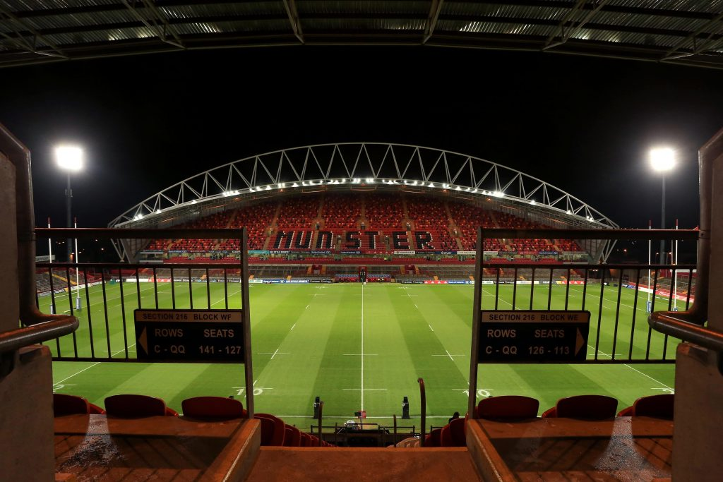 Thomond Park under the lights.