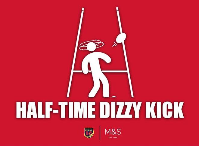 Half Time Dizzy Kick Challenge!