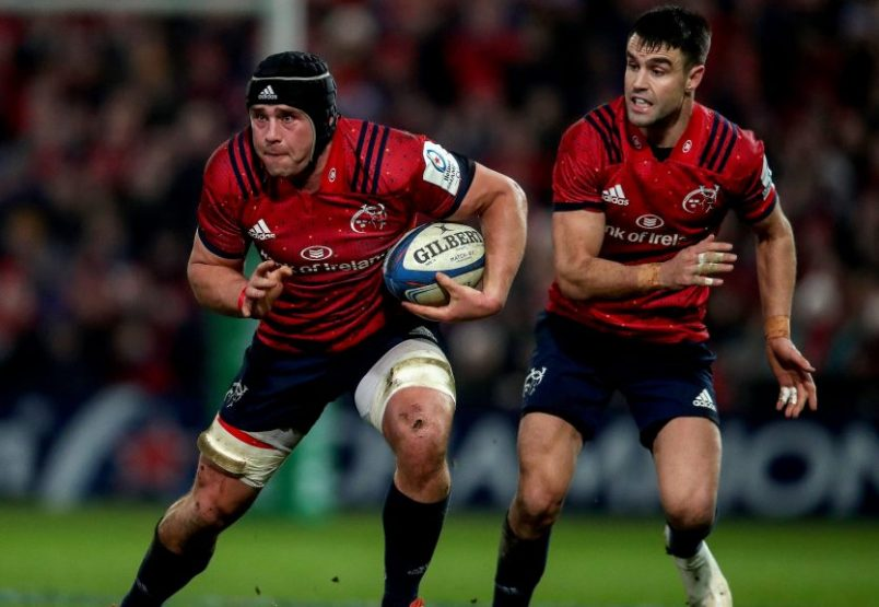 CJ Stander and Conor Murray in action against the Exeter Chiefs at Thomond Park in the 9-7 victory.