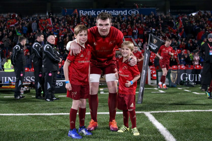 Captain Peter O'Mahony ahead of Munster's most recent Guinness PRO14 clash at Irish Independent Park.
